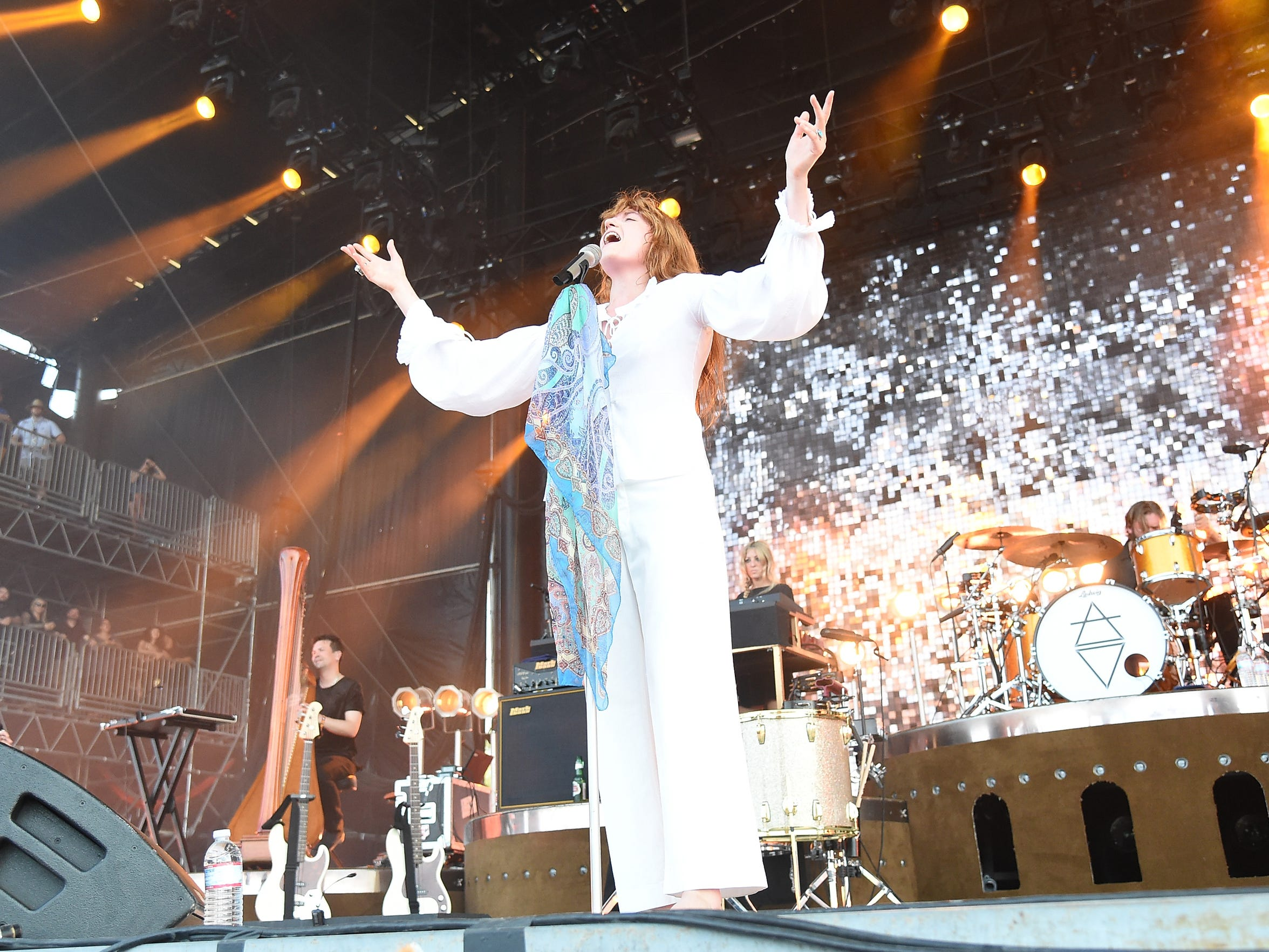 Florence and the Machine were one of the final acts of the festival, punctuating it with an exciting and energetic performance.