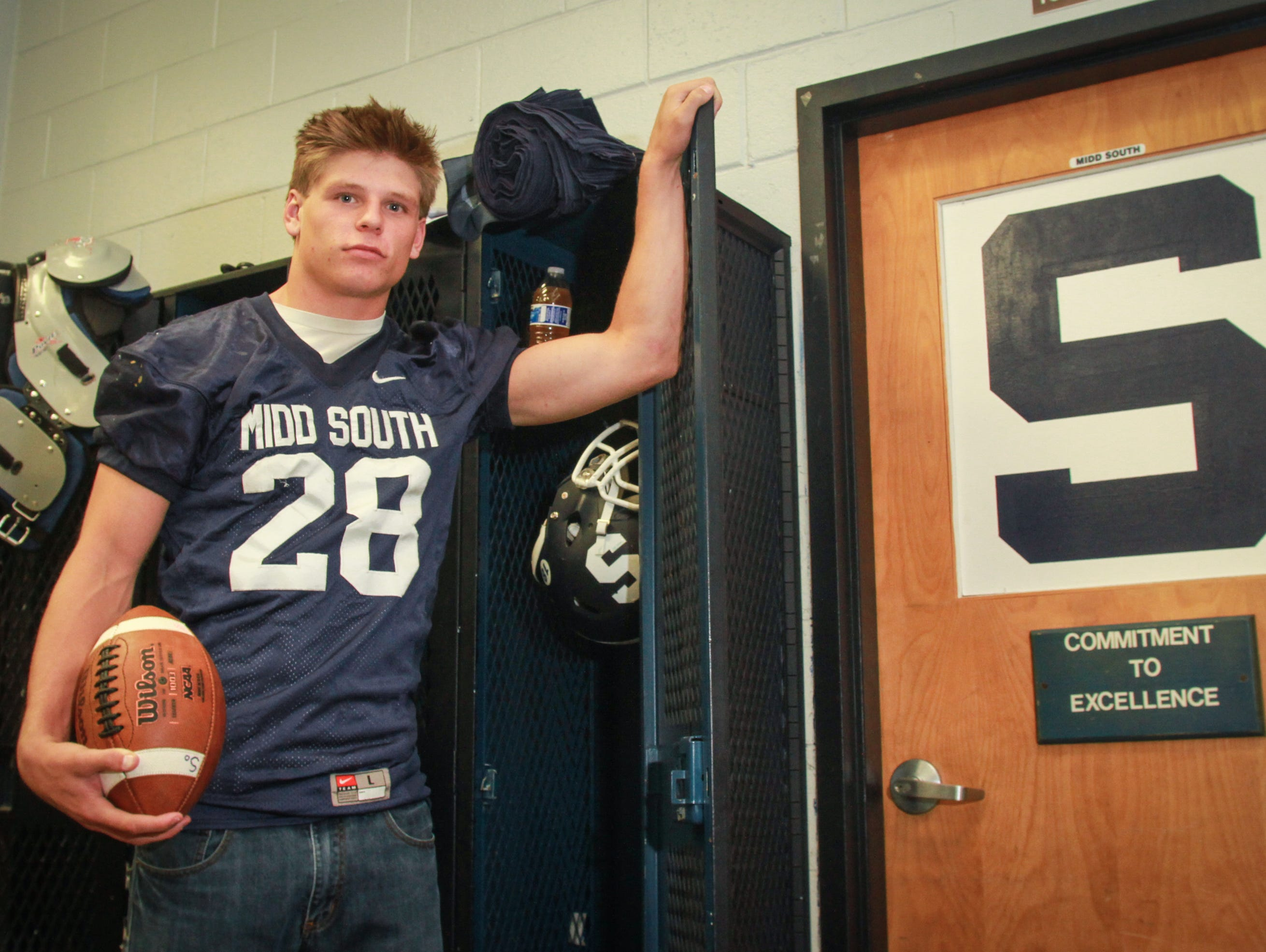 Middletown South junior linebacker/running back James McCarthy will be a key player for the Eagles Saturday at Freehold as they try to clinch a tie for the Shore Conference Class A North championship.