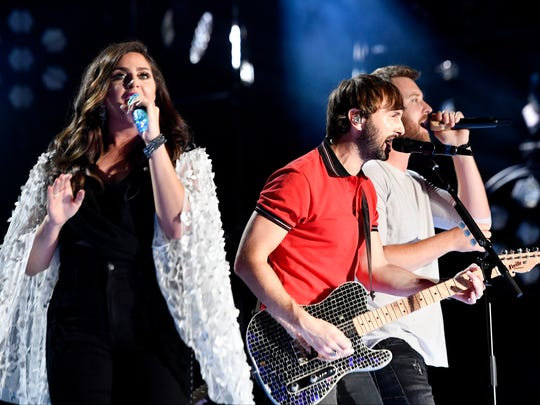 Hillary Scott, Dave Haywood and Charles Kelley of Lady