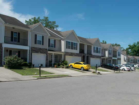 Completed homes in Heritage Hills, a new subdivision