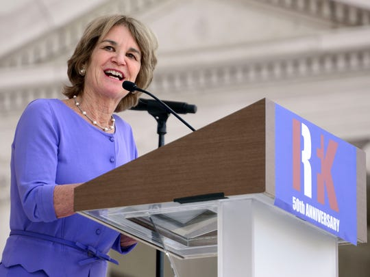 Kathleen Kennedy Townsend speaks during a memorial