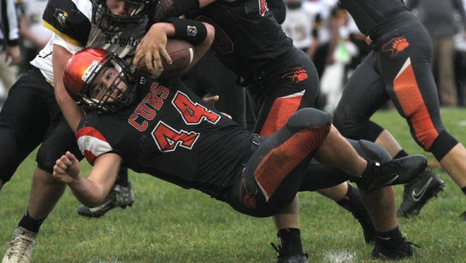 Lucas' Jeb Grover broke the Lucas High School career-rushing record last week in a win over Harrison Central. Grover now has 5,330-rushing yards with three more regular season games left.