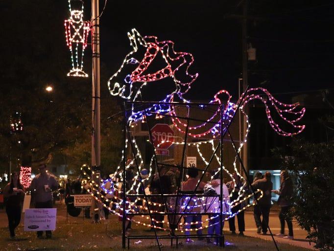 The Festival of Lights illuminates the Oil Center in