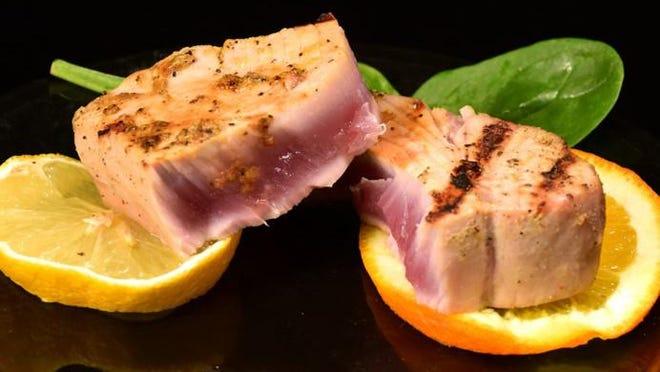 Citrus ahi tuna steaks