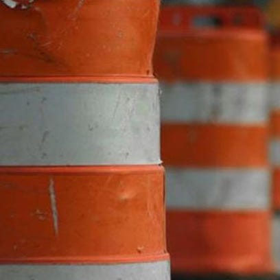Orange barrels.