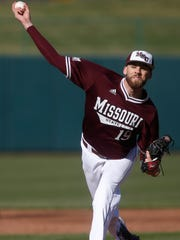 Tyler McAlister, of Missouri State, delivers the pitch