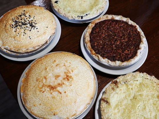 Some of the pies made at the Farmer's Market made by