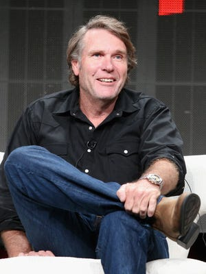 Actor Robert Taylor speaks onstage during the 'Longmire' panel discussion at the Netflix portion of the 2015 Summer TCA Tour at The Beverly Hilton Hotel.