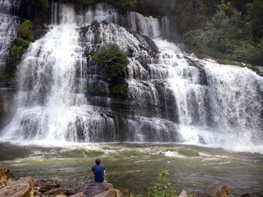 Rock Island State Park's largest waterfall is Twin