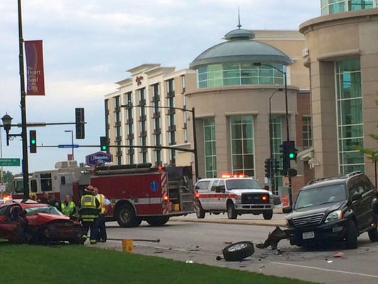 Downtown crash photo 1