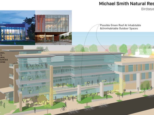 This rendering shows the proposed look of the Michael Smith Natural Resources Building planned at Colorado State University.