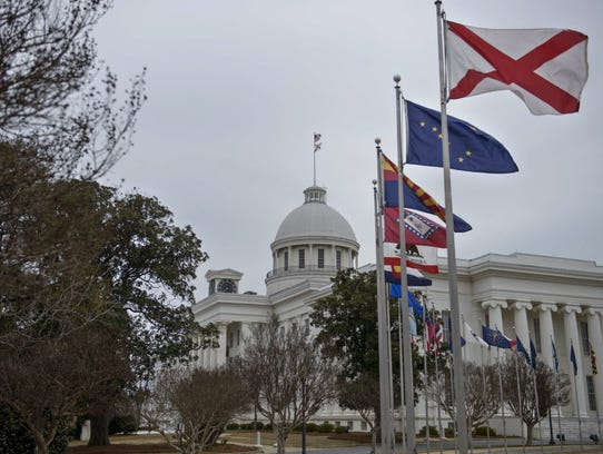 A view of the Alabama state capitol on March 6, 2015