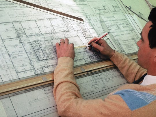 An architect at work in the Berners-Schober Associates