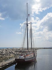 The Red Witch offers public sails out of the Kenosha harbor in the summer.