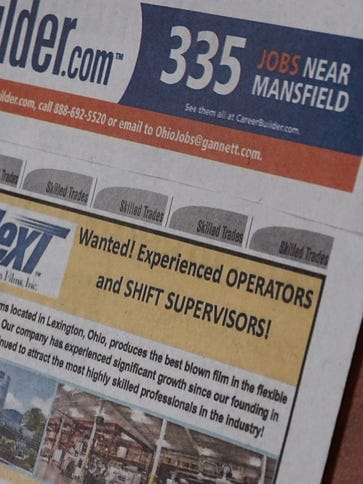 Several jobs were advertised in the News Journal this
