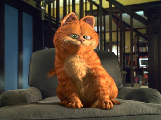 "Bill Murray supplied the voice of Garfield in 2004's ""Garfield: The Movie."""