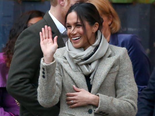 Prince Harry and Meghan Markle arrive in Brixton, southwest
