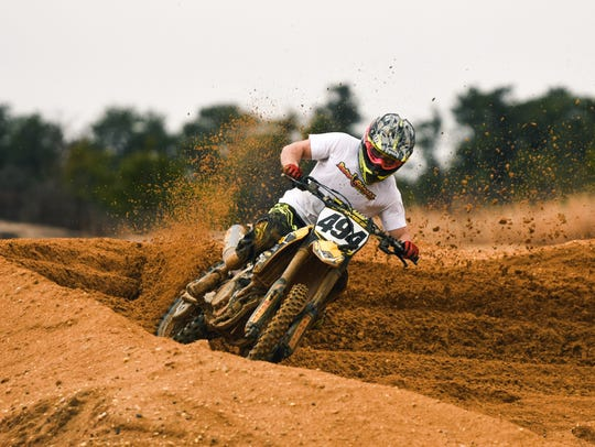 Motocross athlete Max Gomez of New Rochelle rides his
