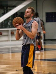 Free agent Bryce Alford practices during the Indiana Pacers' rookie/free agent camp.