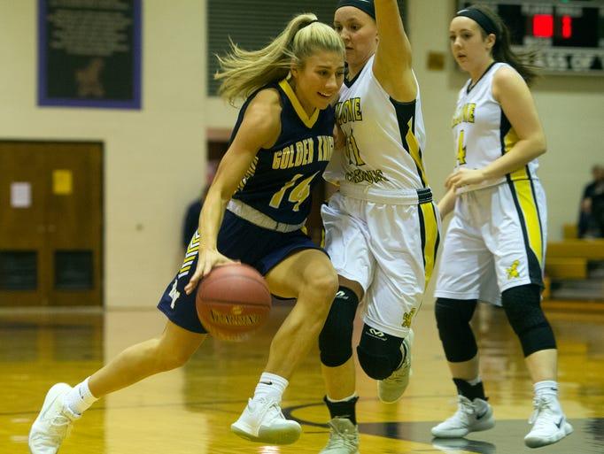 Eastern York's Hannah Myers (14) drives the ball toward