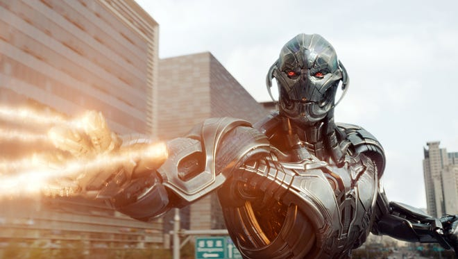 Ultron (voiced by James Spader) unleashes his wrath on mankind in 'Avengers: Age of Ultron.'