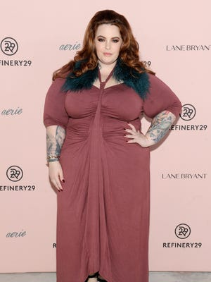 """Model Tess Holliday, here at Refinery29's Every Beautiful Body Symposium in 2016, covers """"Cosmopolitan UK"""" in October."""
