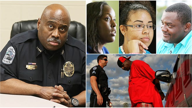 Dunbar residents Maya Outten, Angel Escobar, 18, and Curt Sheard share their thoughts on a recent assessment by Freeh Group International Solutions of the Fort Myers Police Department.