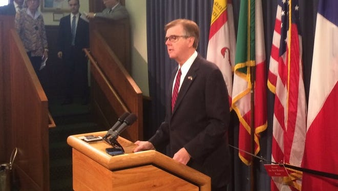 Lt. Gov. Dan Patrick warns that if his priority legislation remains bottled up in the Texas House, he'll force a special session during a news conference Wednesday, May 17, 2017, in Austin.