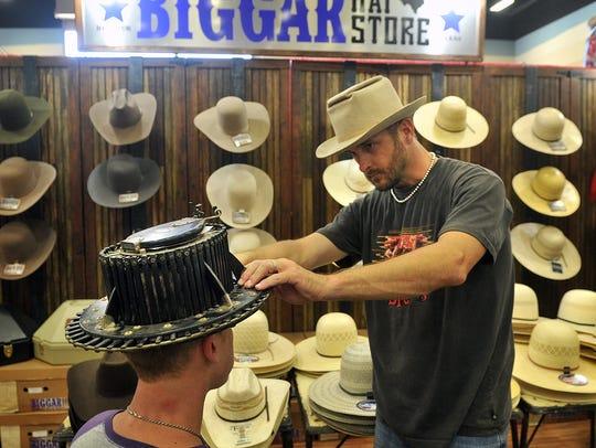 Jeff Biggars, owner of Biggar Hat Store, and Mike