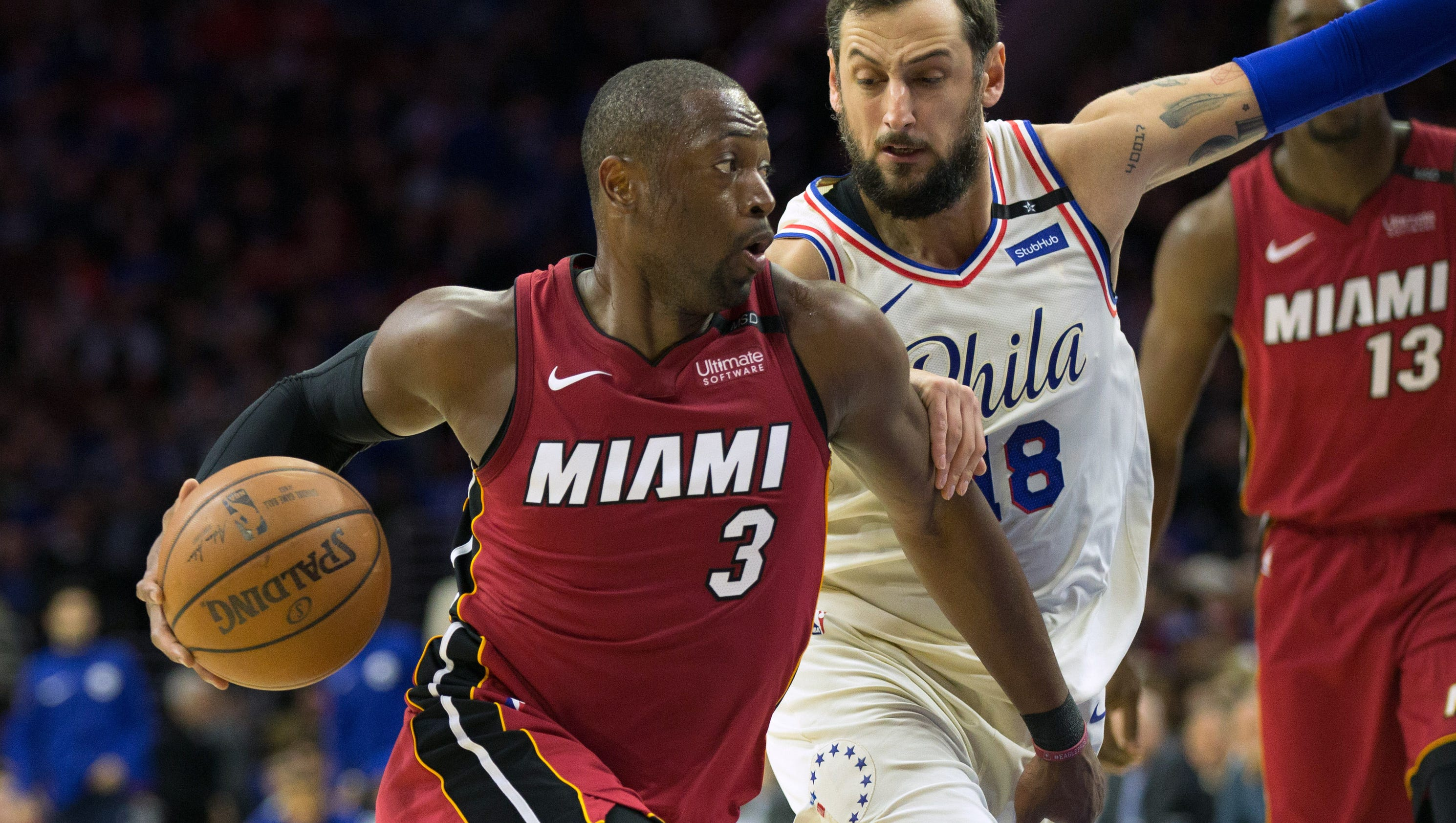 Dwyane Wade torches 76ers, passes Larry Bird on playoff ...