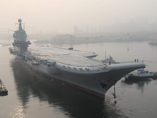 China's first domestically manufactured aircraft carrier,