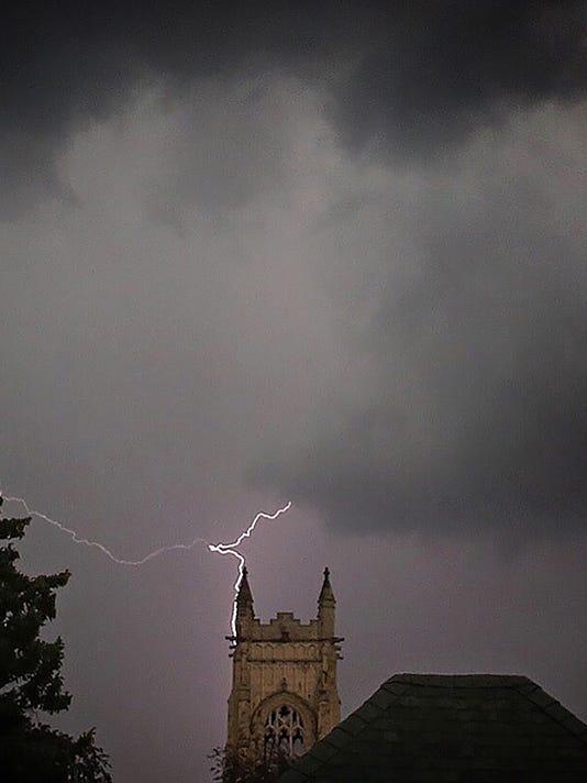 Lightning clouds