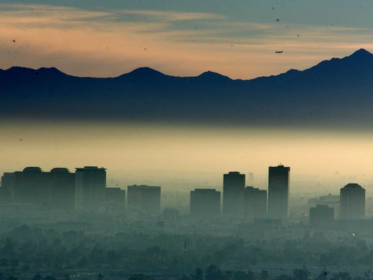 Phoenix Skyline Air Pollution