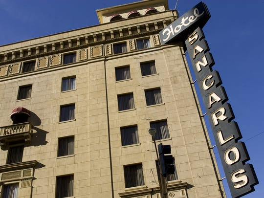 The Hotel San Carlos is said to be haunted by a woman in white.
