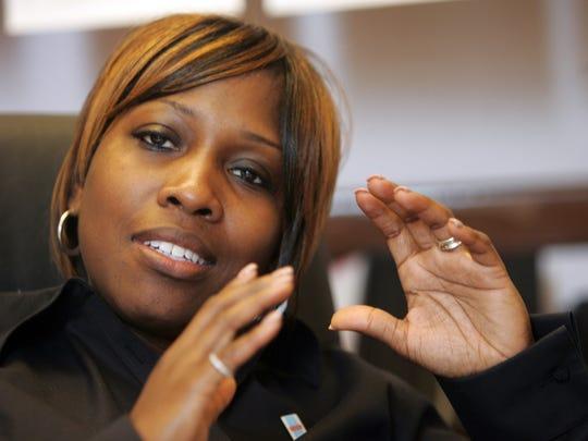 Former Principal Kenyetta Wilbourn-Snapp in 2010. She