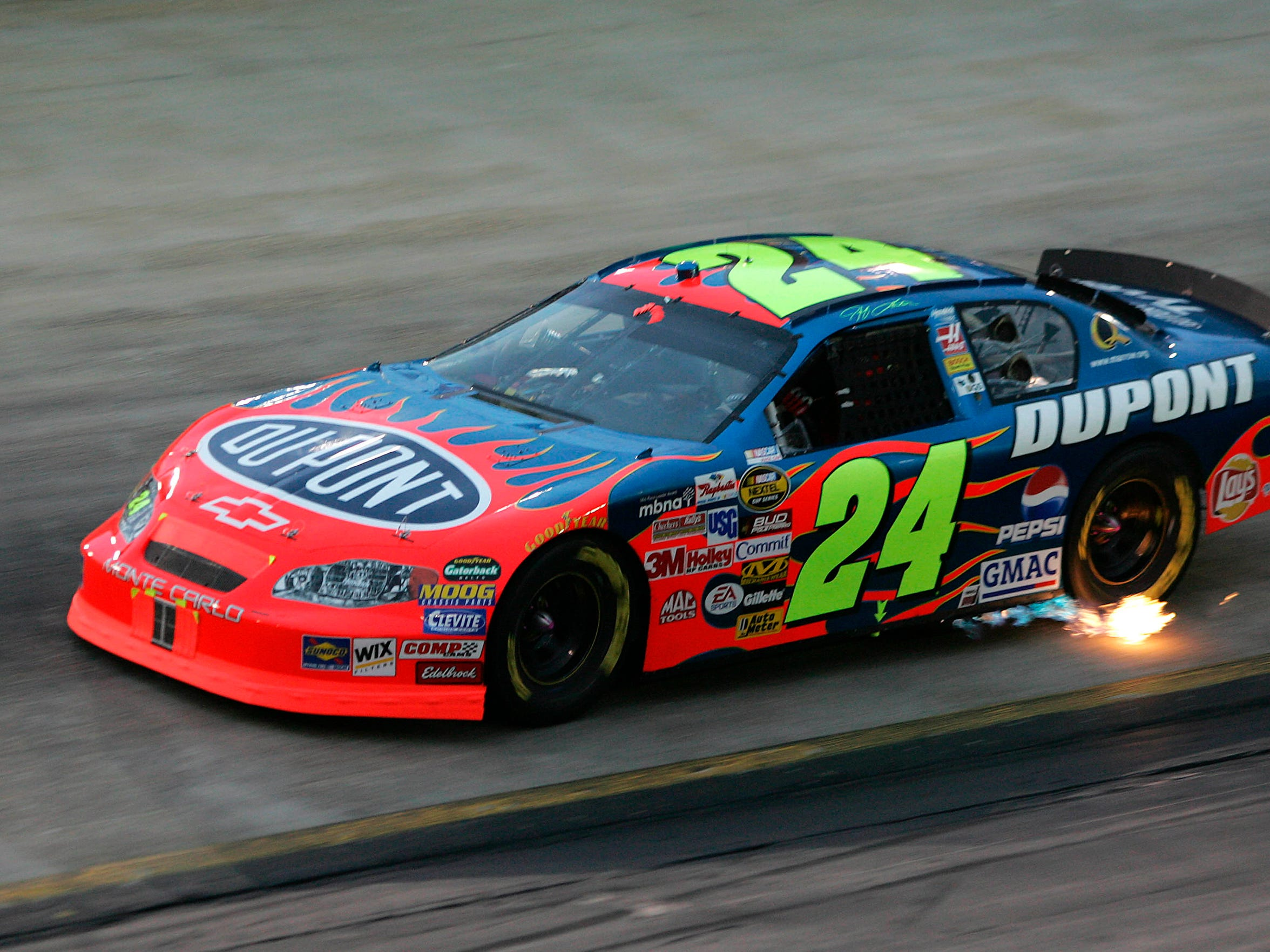 August 27, 2005; Bristol, Tenn.; Jeff Gordon is making his 24th season in NASCAR Cup racing his last.