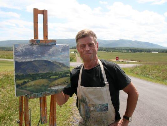 Stephen Doherty working outside