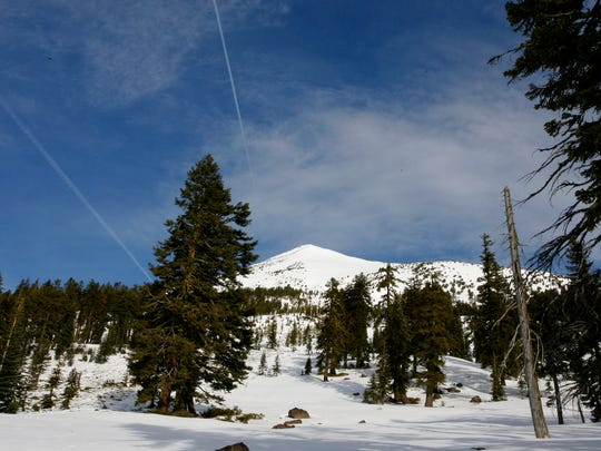 The south face is the place to climb Mount McLoughlin in the winter.