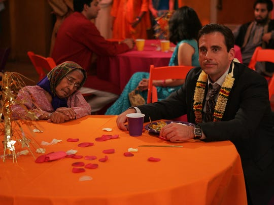 'The Office's' Michael Scott (Steve Carell) attends a  party celebrating Diwali, the Hindu festival of lights, in an episode written by co-star Mindy Kaling.