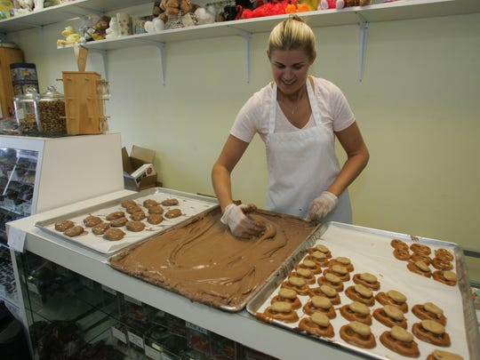 Amy Dunfee, owner of Red Bank Chocolate Shoppe, likes to include games in her chocolate parties.