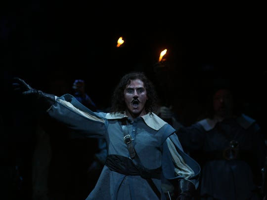 Marian Pop, shown here as Cyrano in Michigan Opera Theatre's 2007 world premiere production, which was composed by David DiChiera.