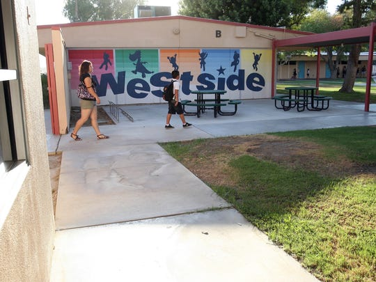 Westside Elementary School Thermal, part of the Coachella Valley Unified School District, was locked down briefly on Thursday after gunshots were heard in the area.