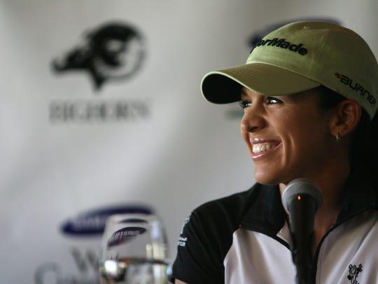 09-24-07 LPGA tour player Nicole Castrale speaks during