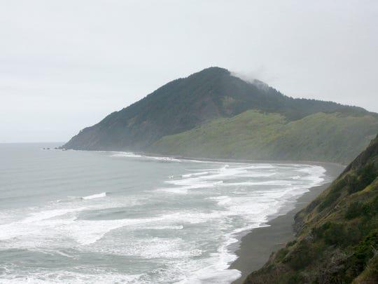 Humbug Mountain rises like a loaf of sugar above the Southern Oregon Coast near Port Orford.