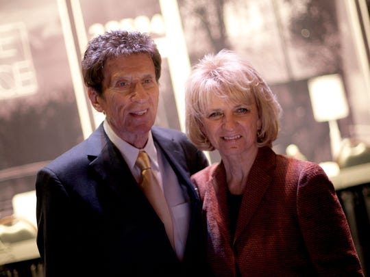 Mike and Marian Ilitch address the media about celebrating
