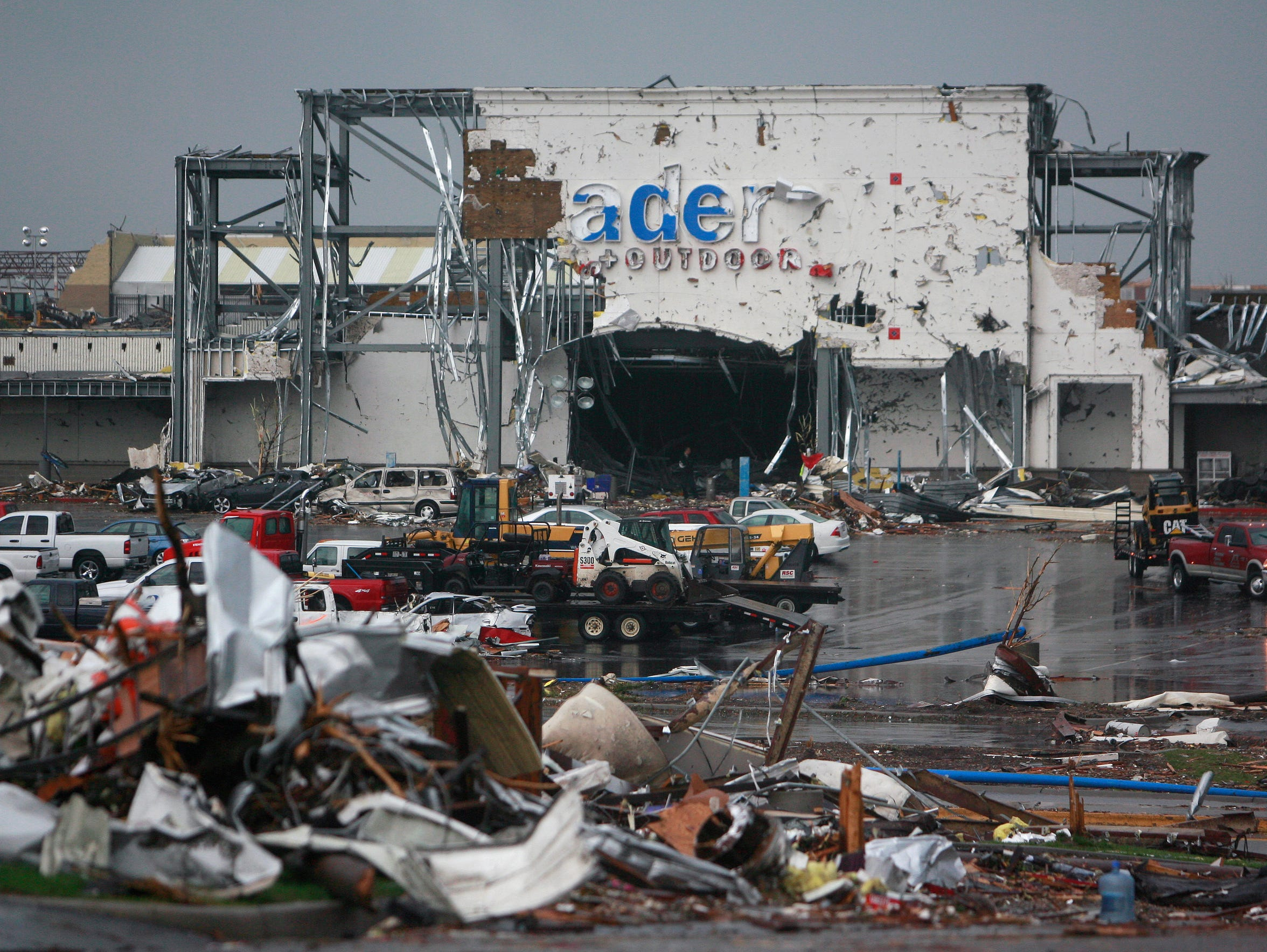 Academy Sports was heavily damaged after a tornado