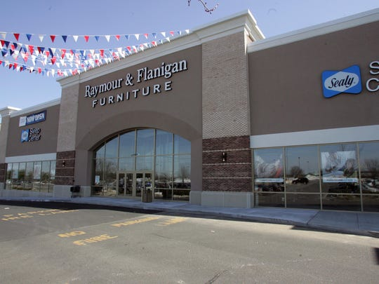 A Raymour & Flanigan furniture store is seen in Freehold, New Jersey.