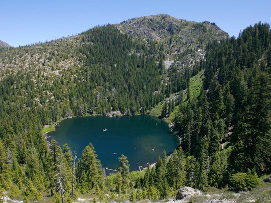 Raspberry Lake is seen in the Siskiyou Wilderness.