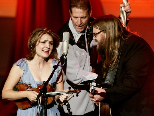 Tammy Rogers, left, Mike Fleming and Chris Stapleton of the SteelDrivers perform during the 19th annual International Bluegrass Music Awards show Oct. 2, 2008. The SteelDrivers have a new lead singer in Kelvin Damrell.