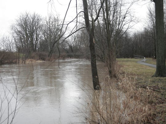 The Sandusky River near Friendship Bridge at Aumiller